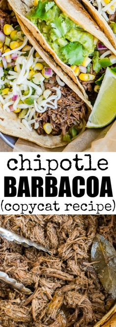 This tastes JUST like the real Chipotle Barbacoa recipe! You'll have 2 cups of marinade, enough for 10 pounds of beef. Make some now, freeze half for later! via @culinaryhill