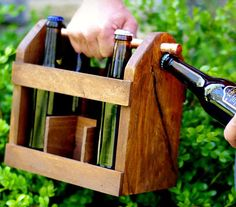 Fancy - Home Brew Six Pack Carrier... He's making this for us, FOR SURE!