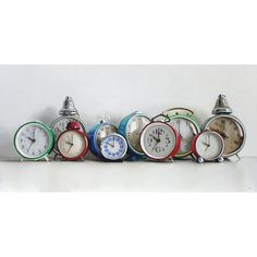 Ten Vintage Alarm Clocks