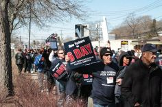 Long Islanders protesting to save 6 Day delivery #strongertogether