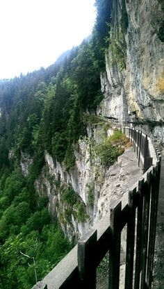 The galleries defago walk in Champery, a path cut into the cliff, spectacular and just 25 minute drive from Chalet Cannelle
