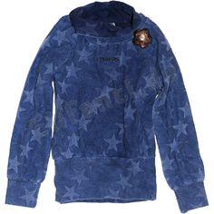 Carbone toller Rolli Tunika Sterne Blume Blau