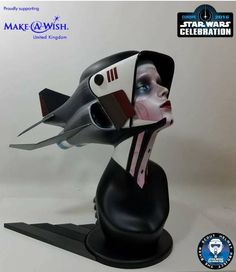 BAD HABIT Biker Scout Helmet Star Wars Celebration Design Art Deco Nun Custum in Collectables, Science Fiction, Star Wars | eBay