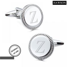 HAWSON Silver Color Alphabet Cuff links  Price: 17.98 & FREE Shipping  #mensclothing|#mensfashion|#mensgifts|#accessories