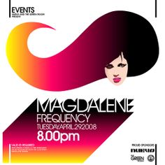 Magdalene Frequency Event Poster | Flickr – Condivisione di foto!
