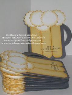 Stampin' Up!  Punch Art  Teresa Giordano  Beer Mug Tutorial