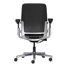 Nice to look at, even nicer to sit in. Steelcase Amia in Design Black Leather…