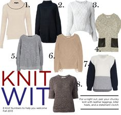 8 knit sweaters for fall