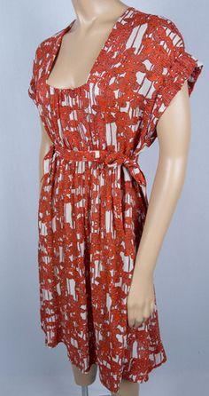 DIANE VON FURSTENBERG DVF Yana Ocean Liner Dress S Silk Semi Sheer Side Ties