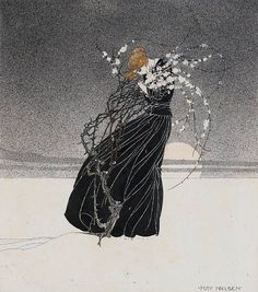 Tumblr - now-winter-comes-slowly:    Kay Nielsen illustrated 'The Story of a Mother', by H. C. Andersen
