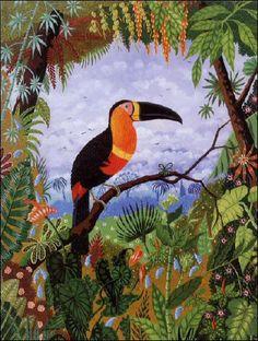 rousseau toucan.jpg 400×529 pixels