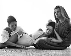 Photography   Portraits   Fashion Editorial   Naty Abascal, Ana Maria Abascal & Helio Guerreiro by Richard Avedon   September 1964
