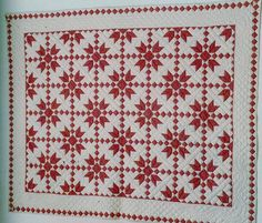 Two-Color Quilt. Looks like a sweater Two Color Quilts, Blue Quilts, Star Quilt Patterns, Star Quilts, Antique Quilts, Vintage Quilts, Quilting Projects, Quilting Designs, Quilting Ideas