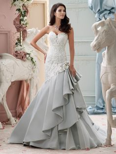 David Tutera for Mon Cheri 2015 Wedding Dress Collection – 115230 Blue