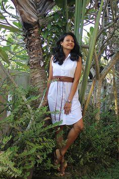 White shirt dress, white dress, LWD, little white dress, lunch date, office attire, dinner date after office hours