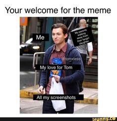 The Effective Pictures We Offer You About Memes de amor A quality picture can tell you many things. You can find the most beautiful pictures that can be presented to you about bts Memes in this accoun Funny Marvel Memes, Dc Memes, Marvel Jokes, Tom Holand, Tom Holland Peter Parker, Fangirl, Tommy Boy, Marvel Actors, Funny Relatable Memes