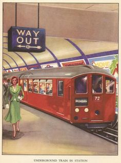 "London Underground (from ""The Little Book of Railways"", London Underground, Underground Tube, Railway Posters, Travel Posters, Train Map, London History, Train Pictures, London Pictures, U Bahn"