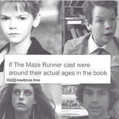 Da fuq I know newt is older looking in the book but he looks 10 he is 16 in the book<<that's because TBS always looks younger than he is. Teresa looks the same