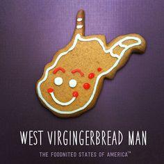 West Virgingerbread Man Foodnited States Poster