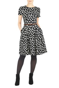I heart this dress from eShakti! The model even has the same boots as me!!