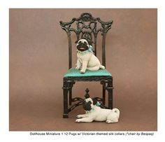Kerri Pajutee realistic miniature animal sculptures for the dollhouse enthusiast or impassioned collector. Miniature Dogs, Felt Dogs, Mini Things, Animal Sculptures, Doll Houses, Needle Felting, Dollhouse Miniatures, Pugs, Minis