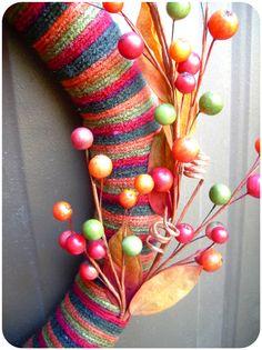 It's Always Ruetten: Welcome Home, Fall wreath (yarn)