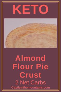 This Keto Almond Flour Pie Crust is gluten free and sugar free. It is hard to believe but this low carb keto pie crust will only take minutes. Almond Flour Pie Crust, Keto Flour, Coconut Flour Bread, Sugar Bread, No Bread Diet, Best Keto Bread, Low Carb Pie Crust, Keto Friendly Bread, Pain Keto
