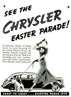 1937 Vintage Advert - Chrysler Motor Car Easter Parade by CharmaineZoe, via Flickr