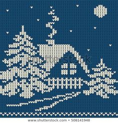 Ideas Knitting Christmas Sweater Cross Stitch For 2019 - Crochet Knitting Charts, Knitting Stitches, Knitting Patterns, Crochet Patterns, Cross Stitching, Cross Stitch Embroidery, Embroidery Patterns, Machine Embroidery, Christmas Knitting