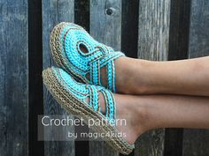 A brand new & original design for CROCHETING women slippers with rope soles! For fall season Im proposing a new design for women slippers/ clogs. These beautiful slippers have rope soles and a charming upper part, suitable for all women who loves comfort and elegance in the same time. You could make these slippers in any color, you could decorate it in many ways and you could make it for yourself or as gifts for your family members or friends. You are welcome to sell your ...