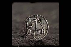 coin pendant with a ship design. Birka (Historiska Museet)