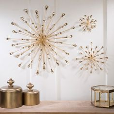 The contemporary Jelena Gold Starburst Metal Wall Art will add a bit of intrigue to your decor. Wall art features golden spokes arranged in a starburst shape. Gold Starburst, Starburst Wall Art, Gold Wall Decor, Wall Decor Bedroom, Gold Walls, Wall Accessories, Metal Wall Art Decor, Wall Art Decor, Kitchen Wall Decor