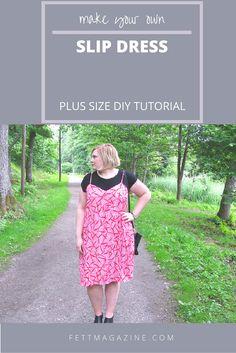 Plus size DIY. Slip dress.