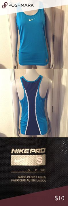 🌟Nike Pro Dri-Fit Tank🌟 Nike Pro Dri-Fit Tank in very good condition! No holes, stains, wears or tears! Nike Tops Tank Tops