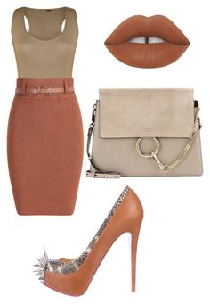 """""""Untitled #1898"""" by princessceairra ❤ liked on Polyvore featuring WearAll, Christian Louboutin, Chloé, Lime Crime, women's clothing, women, female, woman, misses and juniors"""