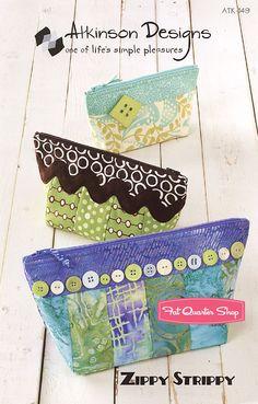 Zippy Strippy Bag Pattern Atkinson Designs - Fat Quarter Shop