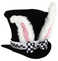 Kids Alice in Wonderland White Rabbit Hat - Alice In Wonderland Costume Accessories (Idea to make)
