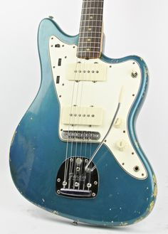 This is hands down one of the best vintage Jazzmasters to cross our path and I've been lucky enough to have it in my possession 3 times. Here we have an early 1965 Jazzmaster in a stunning factory . Lake Placid Blue, Fender Jaguar, Fender Electric Guitar, Fender Vintage, Thunder, The Incredibles, Bass, Geek, Templates