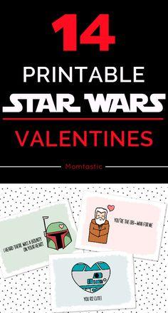 Free printable Star Wars Valentines!