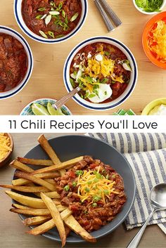 11 Chili Recipes That Are Comfort in a Bowl >> http://www.ulive.com/playlist/best-chili-recipes