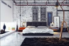 Bedrooms industrial style