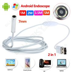 16.30$  Watch here - http://aliugc.shopchina.info/go.php?t=32732475935 - 7mm 6LED Android Endoscope Waterproof Inspection 2 in 1 USB Video Camera 1M/2M/5M Free shipping!  #buychinaproducts