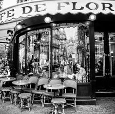 Cafe de Flore in Paris Loved beginning my days in Paris here, sipping tea and watching Paris walk by . . .