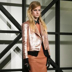 Fall 2013, leather layers with metallics