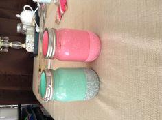 DIY glittered mason jars by Taylor King