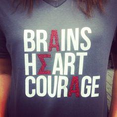 Super fun T-shirt idea from @asagammaiota (Alpha Sigma Alpha)