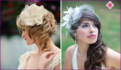 Wedding hairstyle with a veil: options weaving and hair styling, photos