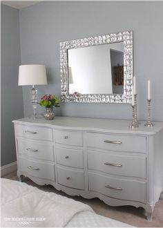 Could I update that 70's dresser in the garden room ???? Modern French Provincial!