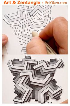 Feziii and gray depth shading is part of drawings Ideas Easy Painting Techniques - Feziii procedural tangle and gray depth shading Zentangle Drawings, 3d Drawings, Doodles Zentangles, Zentangle Patterns, Doodle Drawings, Doodle Art, Zen Doodle Patterns, Tangle Doodle, Tangle Art