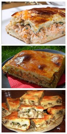 The most budget pie. And unbelievably delicious! Chicken Lunch Recipes, Fish Recipes, Meat Recipes, Salad Recipes, Photo Food, Fish Salad, Savoury Baking, Russian Recipes, Seafood Dishes